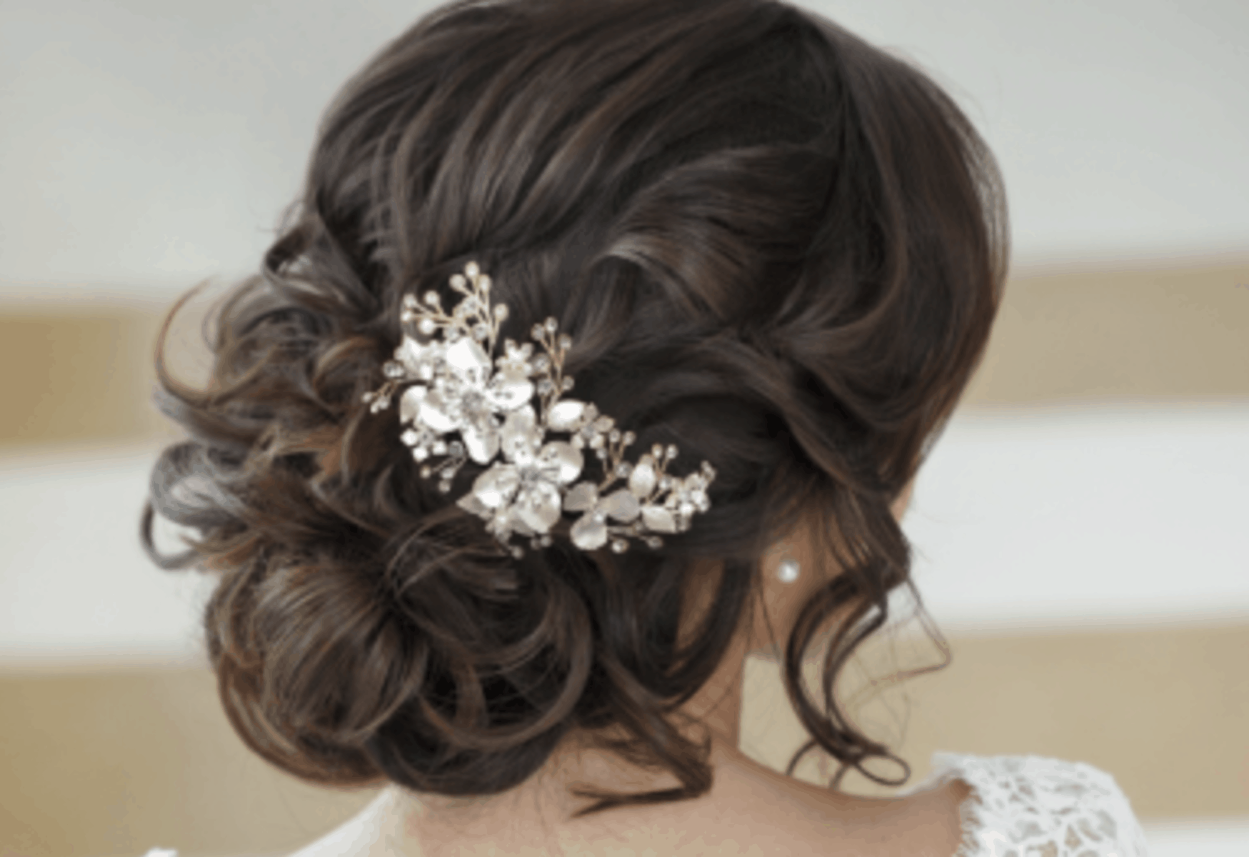 The Perfection in bridal hairstyle